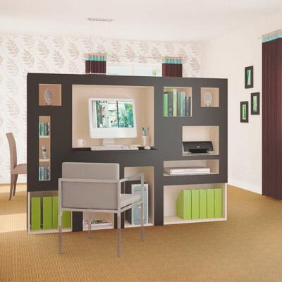 Decoraci n de interiores separador de ambiente de oficina - Separadores oficina ...