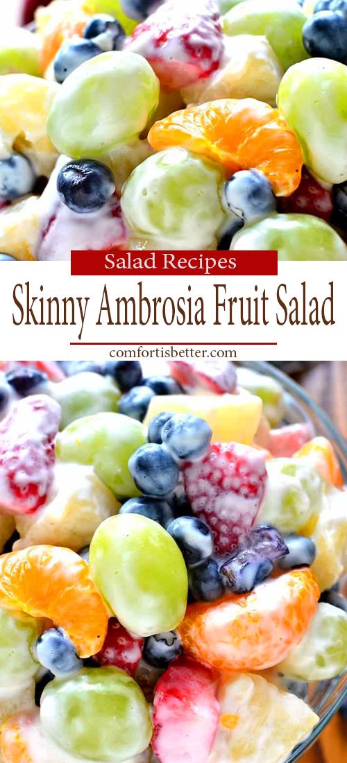 HEALTHY SKINNY AMBROSIA FRUIT SALAD ( BEST  RECIPE )