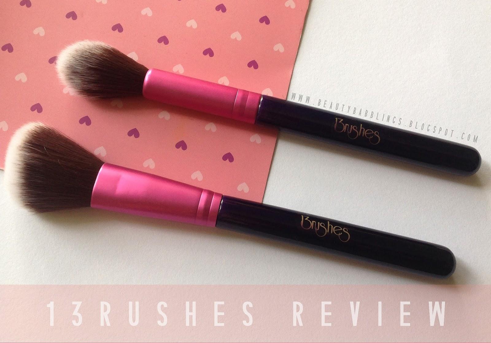 13rushes Round Cheek Brush and Angled Cheek Brush review