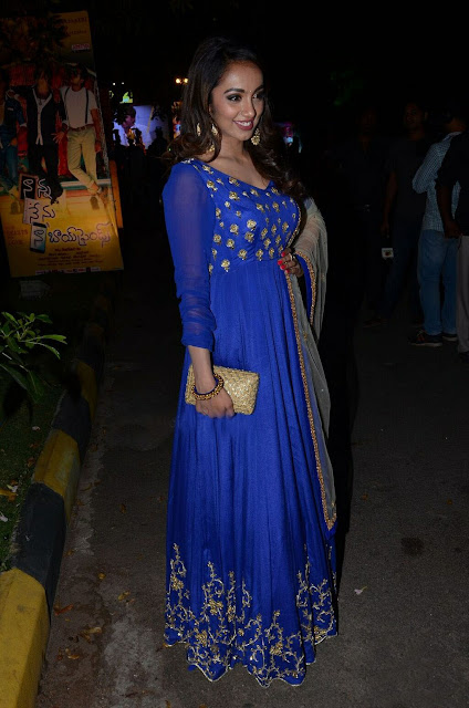 Tejaswi Madivada in Floor Length Anarkali