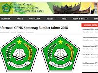 Informasi CPNS Kemenag Sumbar tahun 2018 - Update Senin 29 Okt 2018