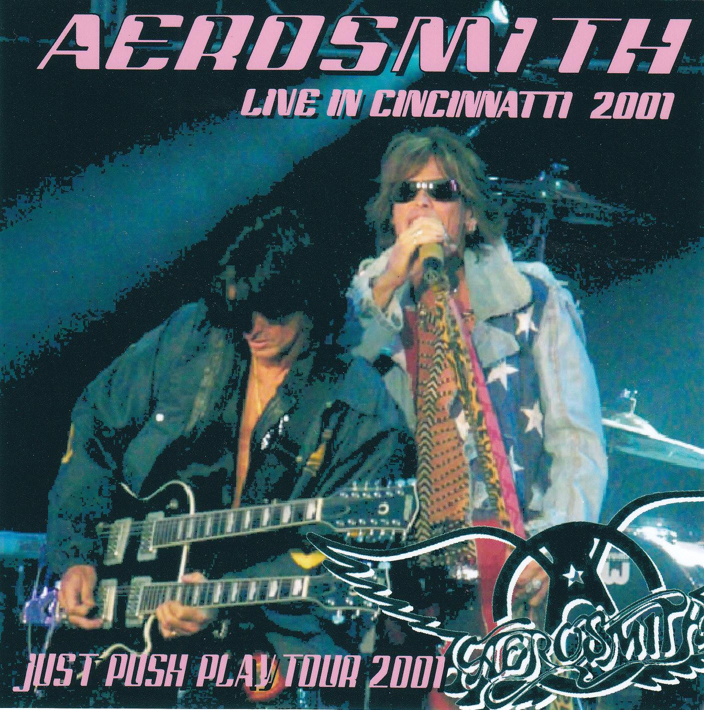 Aerosmith Bootlegs Cover Arts Live In Cincinnatti 2001