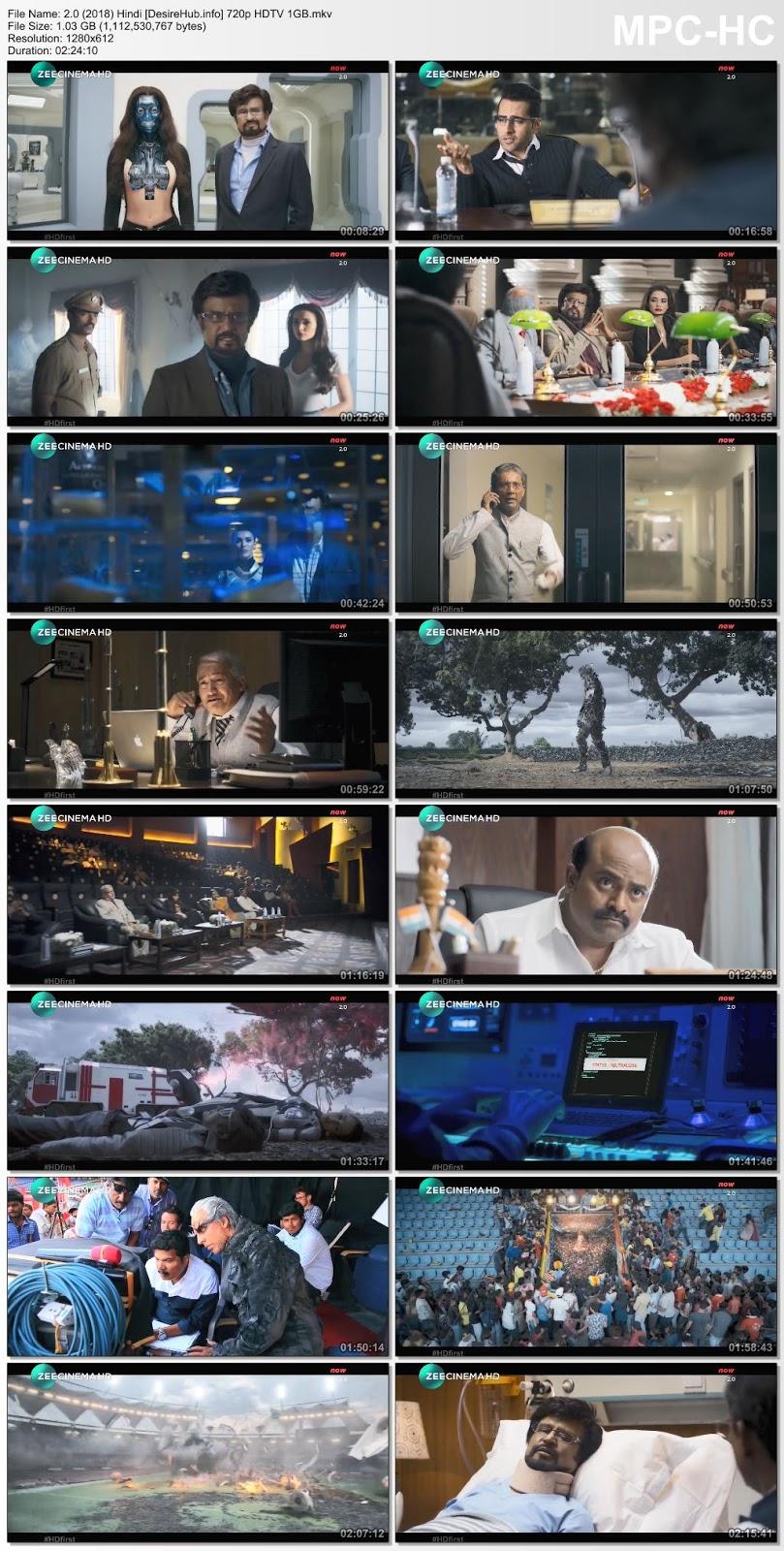 2.0 (2018) Hindi 480p HDTV 400MB Desirehub