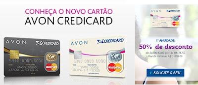 novo cartão de crédito da Avon