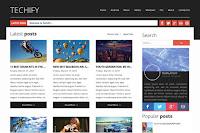 Techify adalah template blogger majalah profesional dan responsif juga dengan desain tata letak bersih yang luar biasa, sepenuhnya responsif untuk terlihat sempurna di semua perangkat seluler dan dapat digunakan pada semua jenis situs film, galeri, fotografi, dll.