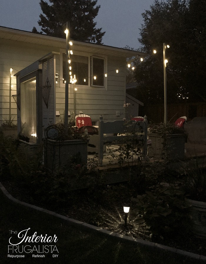 Budget Friendly Deck Makeover Reveal String Lights3