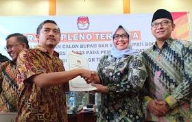 Ade Yasin Resmi Jadi Bupati Terpilih Bogor 2018-2023