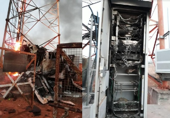 nagaur, rajasthan, mobile tower, fire. fire in mobile tower, telecom companies, nagaur news, rajasthan news