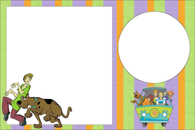 Scooby Doo Kit Completo Com Molduras Para Convites Rotulos Para