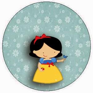 Toppers o Etiquetas para Imprimir Gratis de Blancanieves Nena.