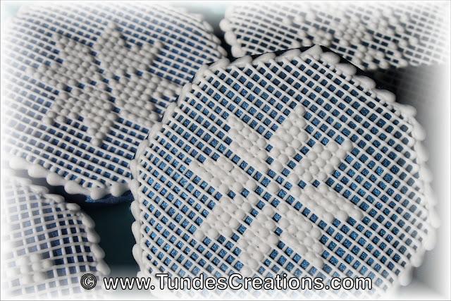 Snowflake needlepoint cookies by Tunde Dugantsi