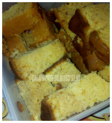 kek Oren, resepi kek Oren mudah, kek Oren homemade, kek Oren gebu