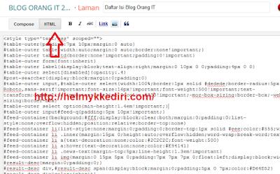 Membuat Daftar Isi Pencarian Dropdown untuk Blog
