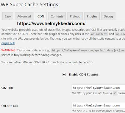 Cara menggunakan WP super cachef
