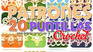 20 Patrones de Puntillas Crochet