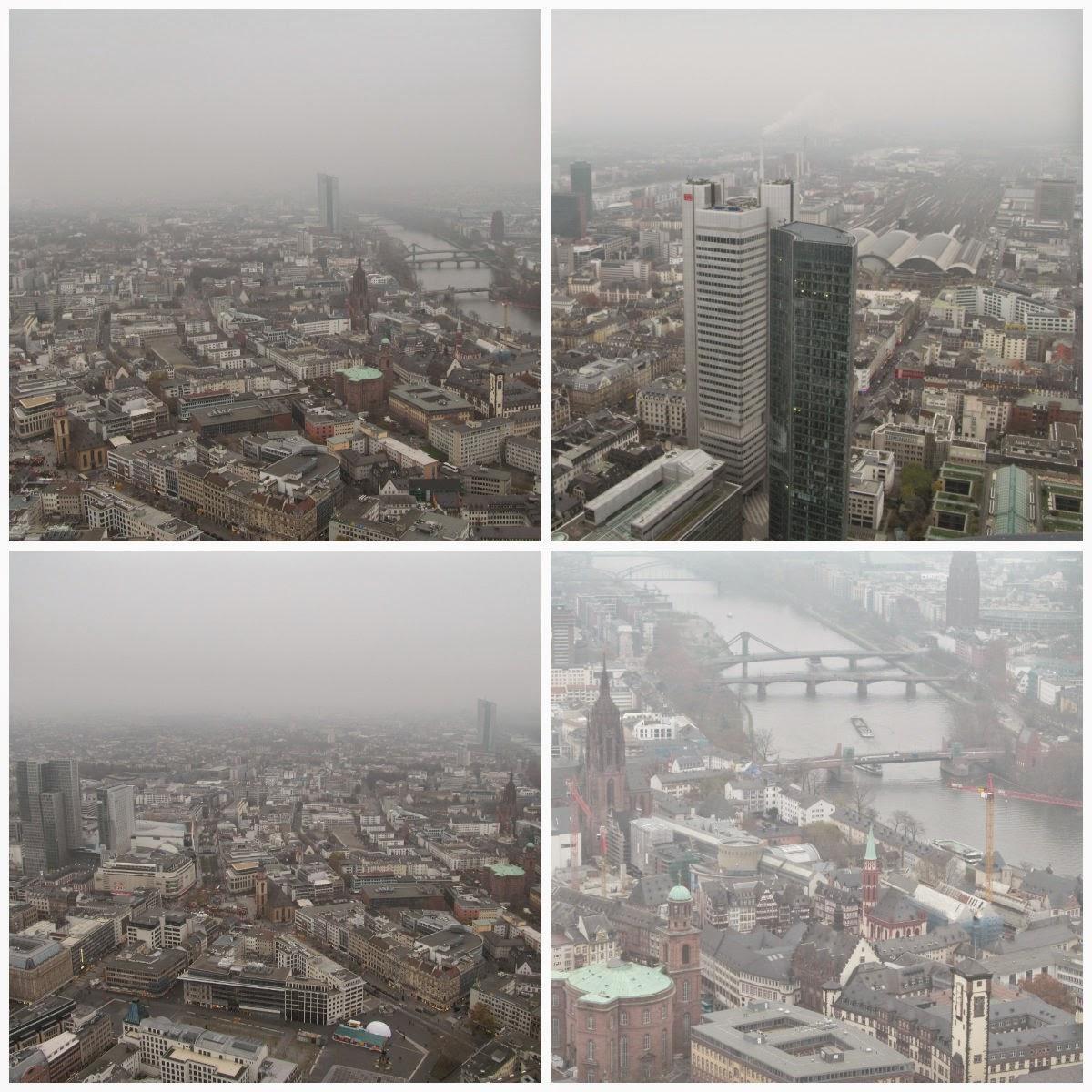 aerial views of frankfurt