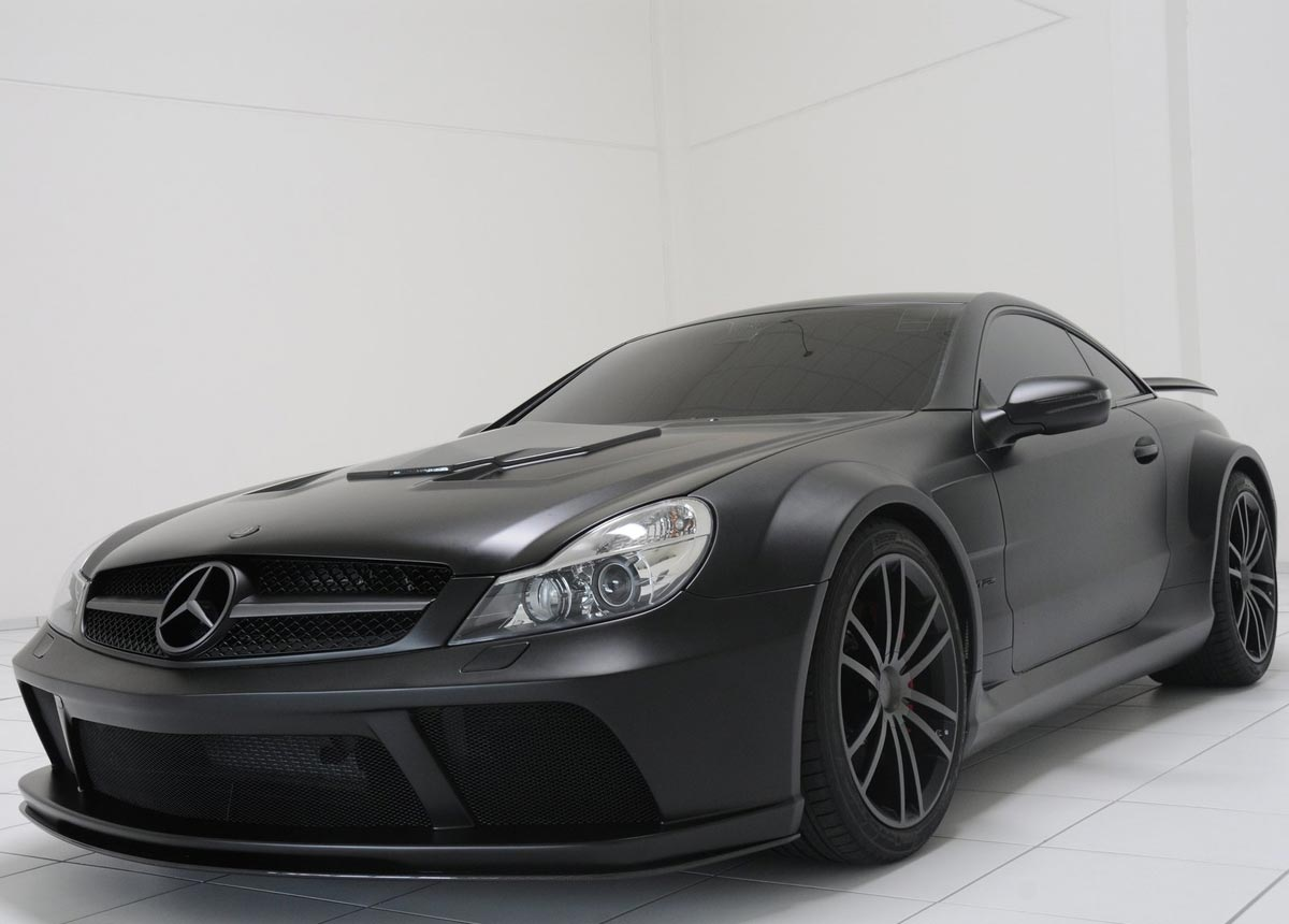 sporty mercedes benz sl65 amg black series brabus tuned a dream car. Black Bedroom Furniture Sets. Home Design Ideas