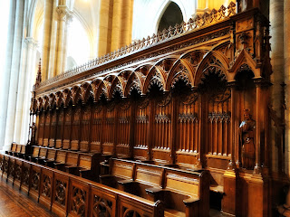 Coro de Canônicos - Bancos de Madeira Junto ao Altar da Catedral de La Plata