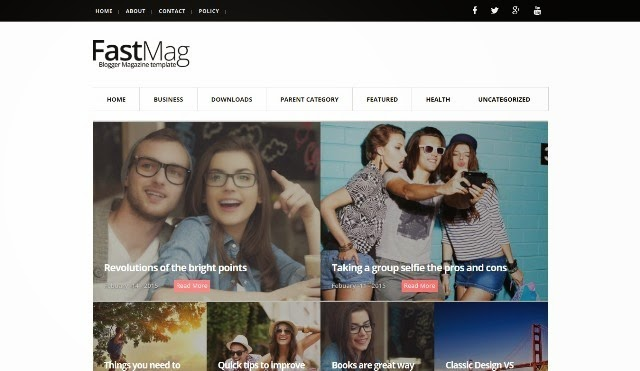 fast mag blogger template for photographers