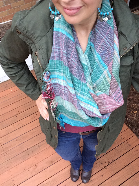 Scarves are a great way to add some interest to an outfit