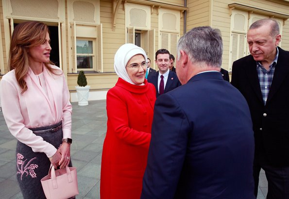 King Abdullah and Queen Rania met with President Recep Tayyip Erdoğan and First Lady Emine Erdoğan