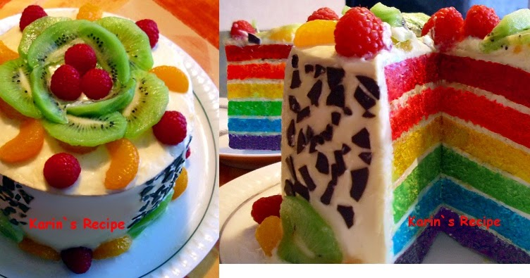 Resep Cake Kukus Pelangi Ncc: Karin's Recipe: Cake Pelangi Kukus (Steamed Rainbow Cake