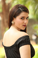 Mannara Chopra in Short Off Shoulder Black Dress ~  Exclusive 036.JPG