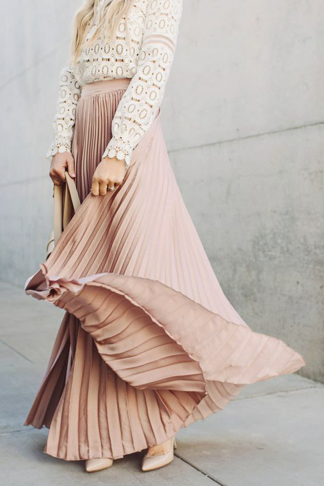 plisada falda vestido invitada boda look pleat skirt dress