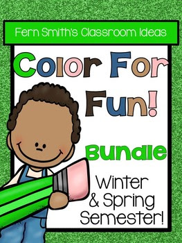 This resource is part of a larger bundle, please click here if you would rather purchase the larger bundle today, Color for Fun, Second Semester Bundle for Winter and Spring Fun! Color For Fun Printable Coloring Pages.