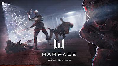 Warface con robots luchando en un pasillo oscuro
