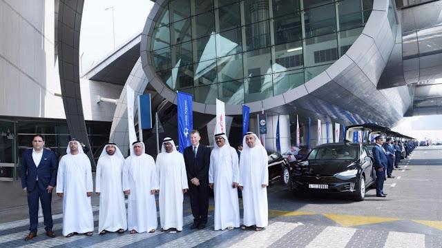 Uber and Tesla make the taxi fleet in Dubai