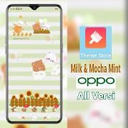 Tema Milk and Mocha Mint untuk OPPO all Versi
