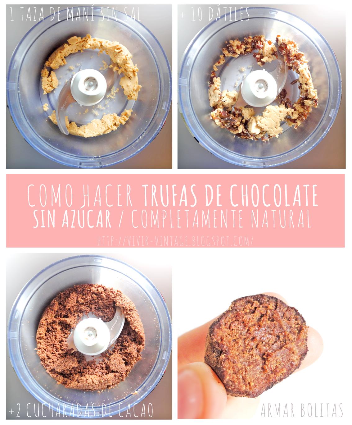 trufas de chocolate sanas sin azucar