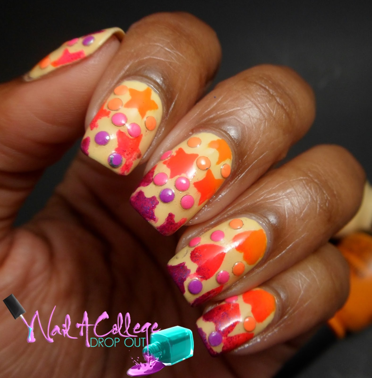 Nail A College Drop Out: Nail Art Society: I Love Studs