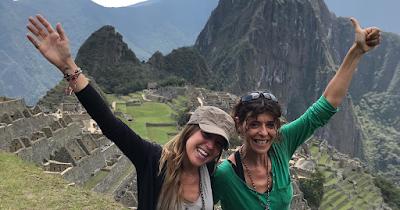 Voluntarias aprovecharon para visitar Machu Picchu en su viaje solidario