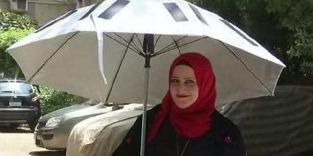 Dua Sekawan Ini Ciptakan Payung Pintar Untuk Jamaah Haji, Lihat Berbagai Fitur Canggihnya