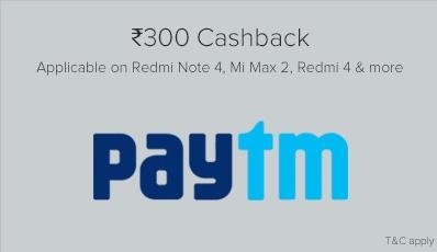 Paytm Mi Mobile Offer 300rs cashback