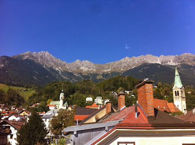 View from Hotel Tautermann, Innsbruck, Austria