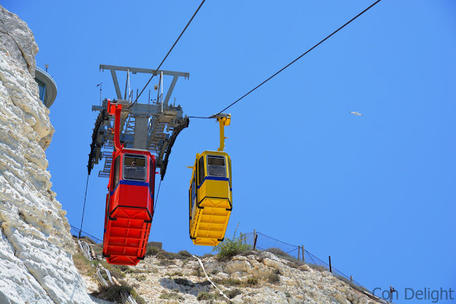 רכבל בראש הנקרה Rosh Hanikra cable cars
