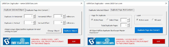 GRAFISin Free Macro Duplicator Object Or Page With Content for CorelDraw