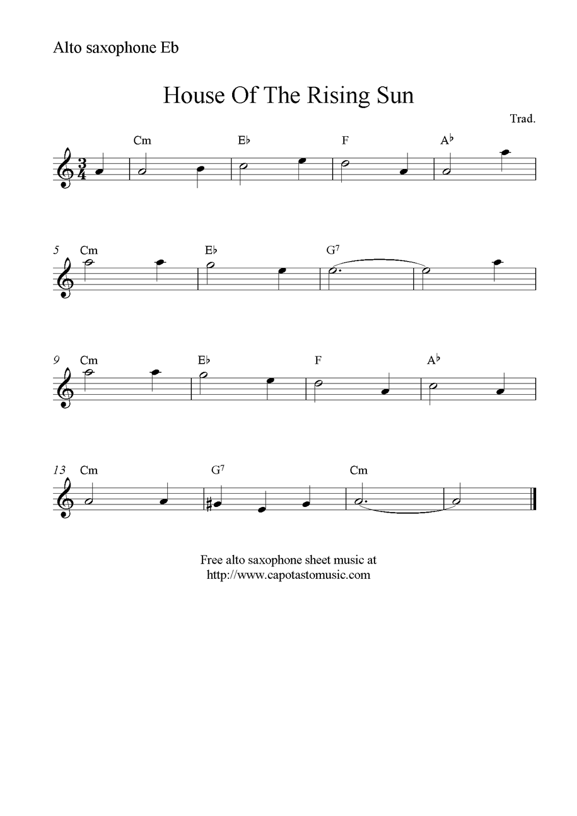 alto sax sheet music free download