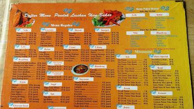 Menu Makanan Pondok Lesehan Ikan Bakar