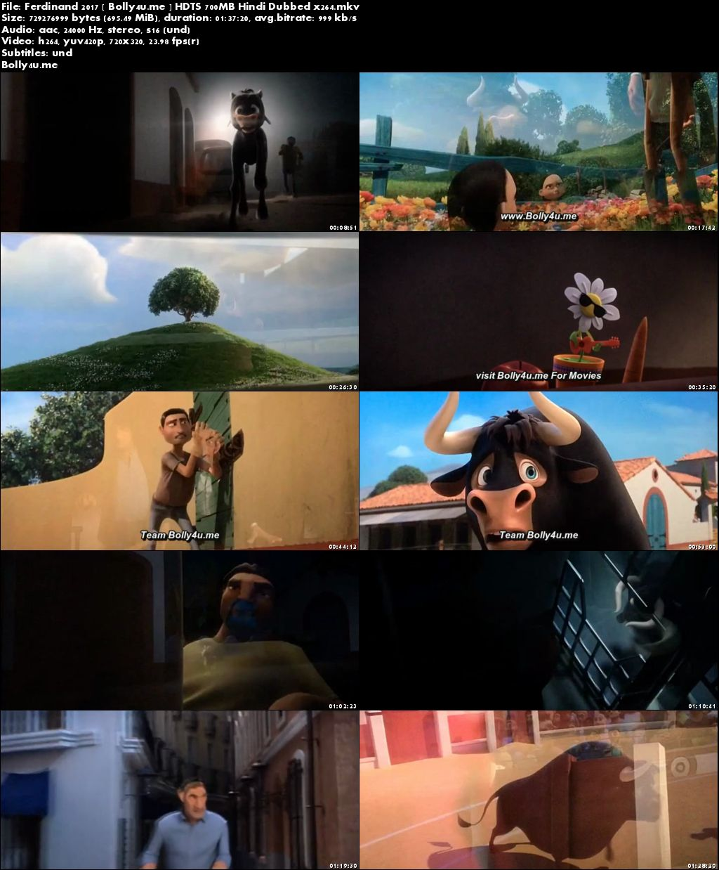 Ferdinand 2017 HDTS 700MB Hindi Dubbed x264 Download