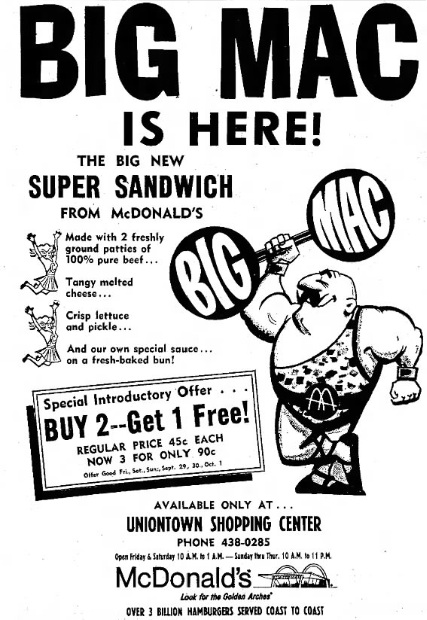 The '60s at 50: Saturday, April 22, 1967: Birth of the Big Mac