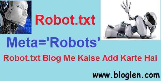 Robot.txt kya Hai aur Isko Blog Me Kaise Add Karte Hai