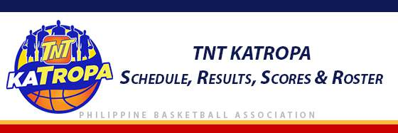 PBA: TNT Katropa Schedule, Results, Scores, Roster