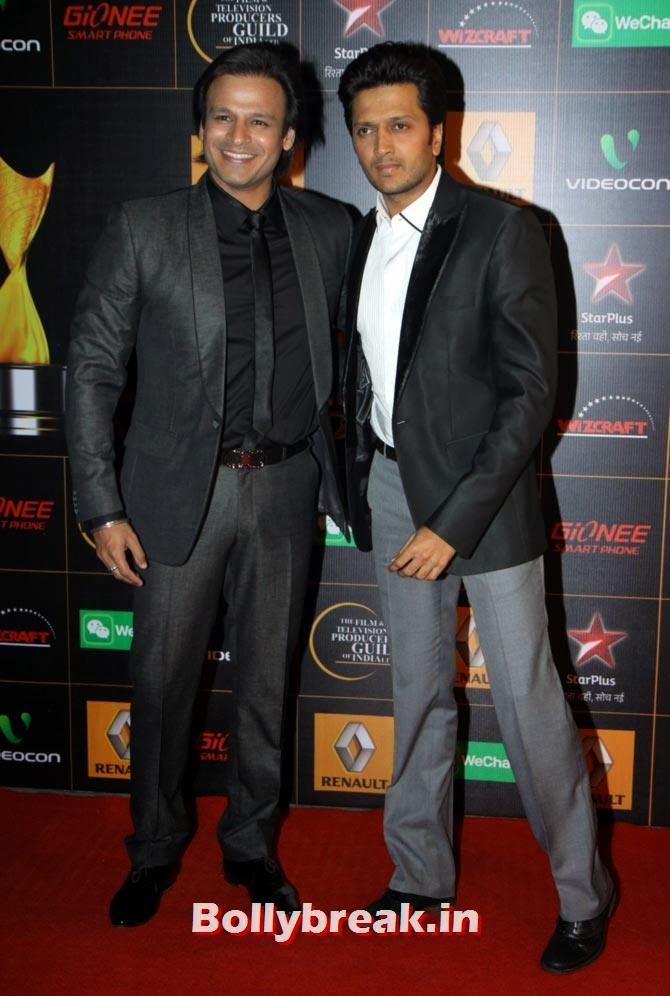 Vivek Oberoi, Ritesh Deshmukh, Star Guild Awards 2014 Pictures