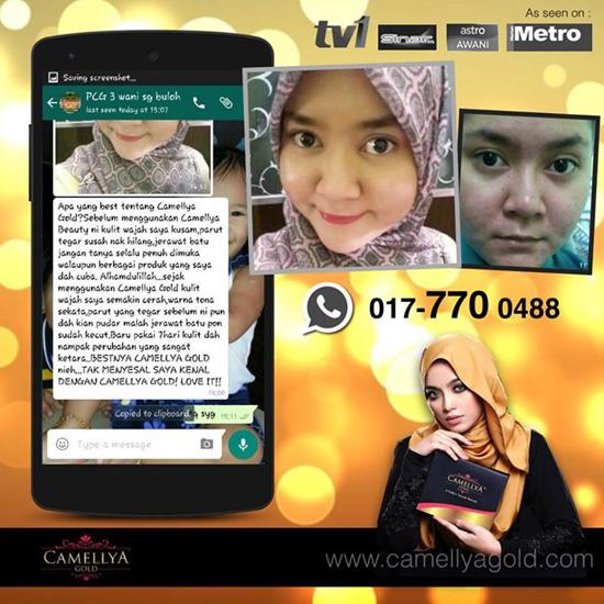 Testimonial Produk Camellya Gold