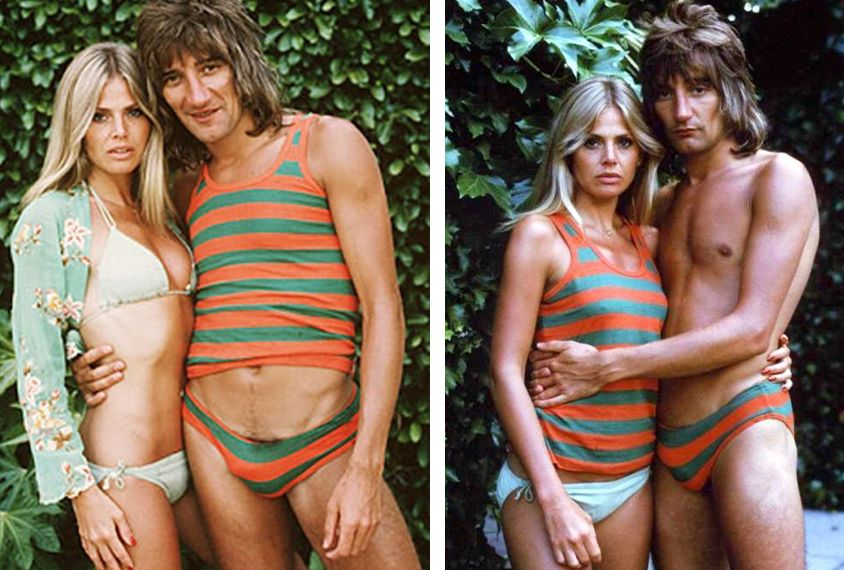 Rod stewart with topless women #13