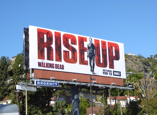 Walking Dead midseason 7 billboard